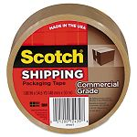 "Commercial Grade Packaging Tape 1.88"" x 54.6 yards 3"" Core Tan (MMM3750T)"