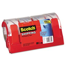 "3850 Heavy Duty Packaging Tape 1.88"" x 54.6 yards Clear Pack of 4 (MMM38504RD)"