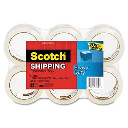 "3850 Heavy Duty Tape Refills 1.88"" x 54.6 yds 3"" Core Clear Pack of 6 (MMM38506)"