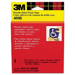 Foam Mounting Double-Sided Tape 1 Wide x 144 Long (MMM4008)