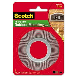 Exterior Weather-Resistant Double-Sided Tape 1 x 60 Gray with Red Liner (MMM4011)