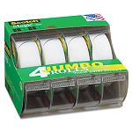 "Magic Office Tape & Refillable Dispenser 34"" x 300"" 1"" Core Box of 4 (MMM4105)"