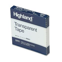 "Transparent Tape 12"" x 2592"" 1"" Core Clear (MMM5910122592)"