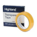 "Transparent Tape 1"" x 2592"" 3"" Core Clear (MMM591012592)"