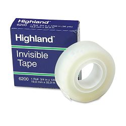 "Invisible Permanent Mending Tape 34"" x 1296"" 1"" Core Clear (MMM6200341296)"