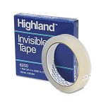 "Invisible Permanent Mending Tape 34"" x 2592"" 3"" Core Clear (MMM6200342592)"