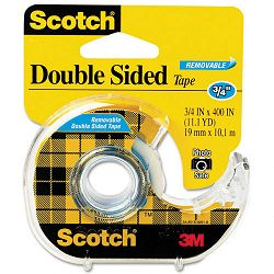 "667 Double-Sided Removable Office Tape and Dispenser 34"" x 400"" (MMM667)"