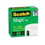 "Magic Office Tape 1"" x 1296"" 1"" Core Clear (MMM81011296)"
