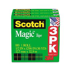 "Magic Tape Refill 12"" x 1296"" Pack of 3 (MMM810H3)"