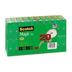 "Magic Office Tape Value Pack 34"" x 1000"" 1"" Core Clear (MMM810K20)"