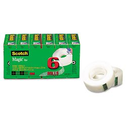 "Magic Tape Refill 34"" x 1000"" Pack of 6 (MMM810K6)"