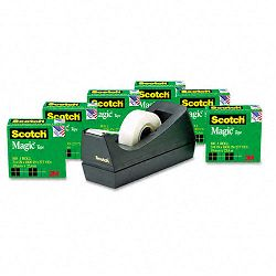 "Magic Tape Value Pack with Dispenser 34"" x 1000"" 1"" Core Pack of 6 (MMM810K6C38)"