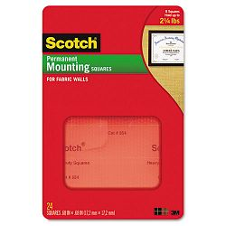 Removable Cubicle Mounting Squares Precut 1116 Squares 35 SquaresPack (MMM854)