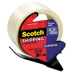 "Extreme Application Packaging Tape & Dispenser 1.88"" x 21 yards 3"" Core (MMM8959RD)"