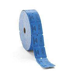 Consecutively Numbered Double Ticket Roll Blue 2000 TicketsRoll (PMC59004)