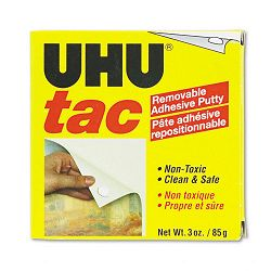 Tac Adhesive Putty RemovableReusable Nontoxic 3 ozPack (SAU99681)