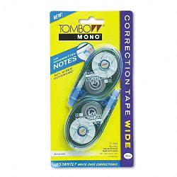 "MONO Wide-Width Correction Tape Non-Refillable 14"" x 394"" Pack of 2 (TOM68682)"