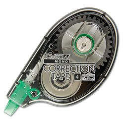 "MONO Correction Tape 16"" x 394"" White Tape Pack of 10 (TOM68720)"