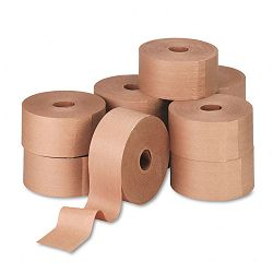 "Reinforced Kraft Sealing Tape 3"" x 450 Feet Brown Carton of 10 (UFS44HD007)"