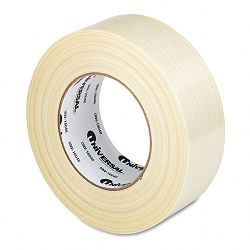 "Premium-Grade Filament Tape with Natural Rubber Adhesive 2"" x 60 yards (UNV16048)"