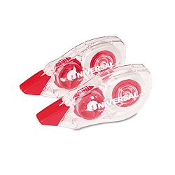 "Correction Tape with Two-Way Dispenser Non-Refillable 15"" x 472"" Pack of 2 (UNV75602)"