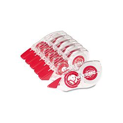"Correction Tape with Two-Way Dispenser Non-Refillable 15"" x 472"" Pack of 6 (UNV75606)"