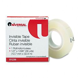 "Invisible Tape 12"" x 1296"" 1"" Core Clear (UNV81236)"