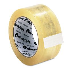 "Heavy-Duty Box Sealing Tape 2"" x 55 yards 3"" Core Clear (UNV91000)"