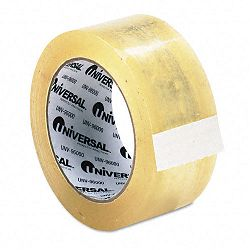 "Heavy-Duty Box Sealing Tape 2"" x 55 yards 3"" Core Clear 12 per Box (UNV96000)"