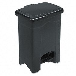 Step-On Receptacle Rectangular Plastic 4 Gallon Black (SAF9710BL)