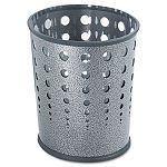 Bubble Wastebasket Round Steel 6 Gallon Black Speckle (SAF9740NC)