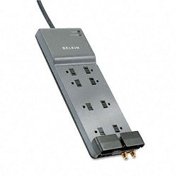 Office Series SurgeMaster Gray Surge Protector 8 Outlets 12ft Cord (BLKBE10823012)