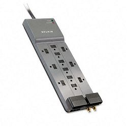 Professional Series SurgeMaster Surge Protector 12 Outlets 8ft Cord (BLKBE11223008)