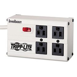 ISOBAR4 Isobar Surge Suppressor Metal 4 Outlet 6ft Cord 3330 Joules (TRPISOBAR4)