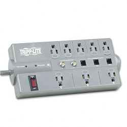 TLP808TELTV Surge Suppressor 8 Outlet RJ11 Coax 8ft Cord 2160 Joules (TRPTLP808TELTV)