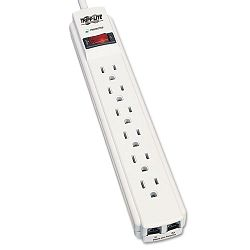 TLP604TEL Surge Suppressor 6 Outlet RJ11 4ft Cord 720 Joules (TRPTLP604TEL)