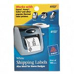 "Shipping Labels 2-18"" x 4 White 140Roll 1 RollBox (AVE4153)"