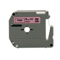 "M Series Tape Cartridge for P-Touch Labelers 38""w Black on Pink (BRTME21)"