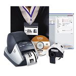 "QL-570VM Visitor BadgeManagement Kit 68 LabelsMin 5-310""w x 5-35""d x 8-15""h (BRTQL570VM)"