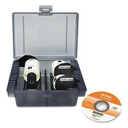 QL Label Printer Get Inspired Starter Kit 3 Rolls Template CD Storage Case (BRTQLKIT100)