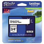 "TZe Standard Adhesive Laminated Labeling Tape 34""w Black on White (BRTTZE241)"