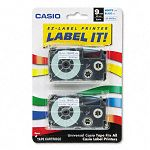 Tape Cassettes for KL Label Makers 9mm x 26ft Blue on White Pack of 2 (CSOXR9WEB2S)