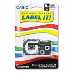 Label Printer Iron-On Transfer Tape 18mm Black on White (CSOXR118BKS)