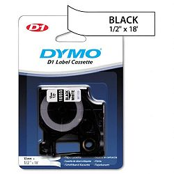 D1 Permanent High-Performance Polyester Label Tape 12in x 18ft Black on White (DYM16955)