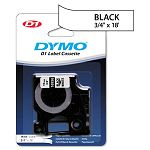 D1 Permanent High-Performance Polyester Label Tape 34in x 18ft Black on White (DYM16956)