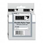 Rhino Flexible Nylon Industrial Label Tape Cassette 12in x 11-12 ft White (DYM18488)