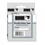 Rhino Flexible Nylon Industrial Label Tape Cassette 34in x 11-12 ft White (DYM18489)