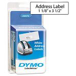 "Address Labels 1-18"" x 3-12"" White Pack of 520 (DYM30572)"