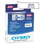 D1 Standard Tape Cartridge for Dymo Label Makers 34in x 23ft Blue on White (DYM45804)