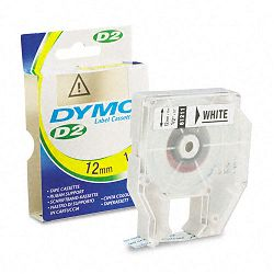 D2 Tape Cassette for Dymo Labelmakers 9000 6000 PC-10 12in x 32ft White (DYM61211)